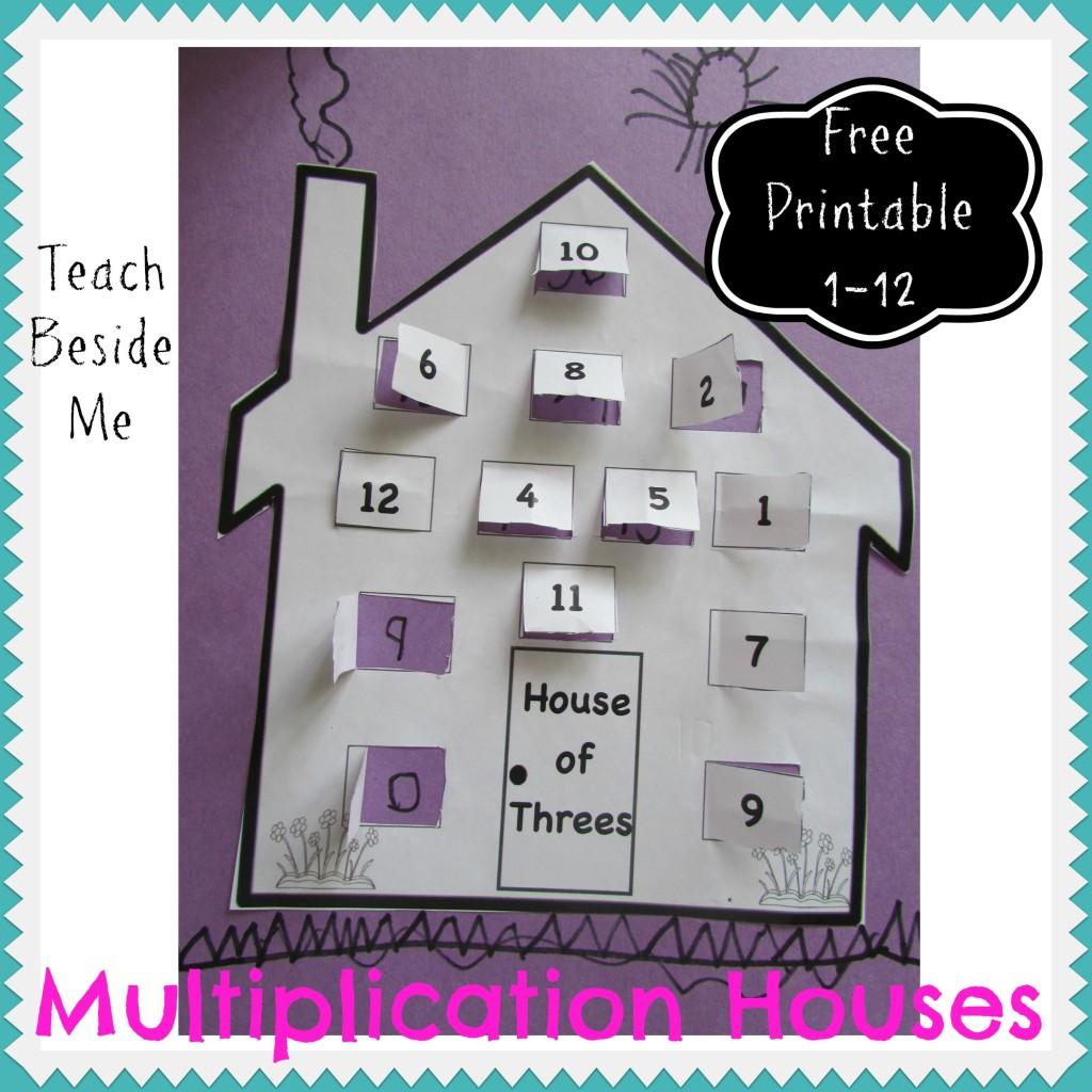 Multiplication House Printables | PAASSC