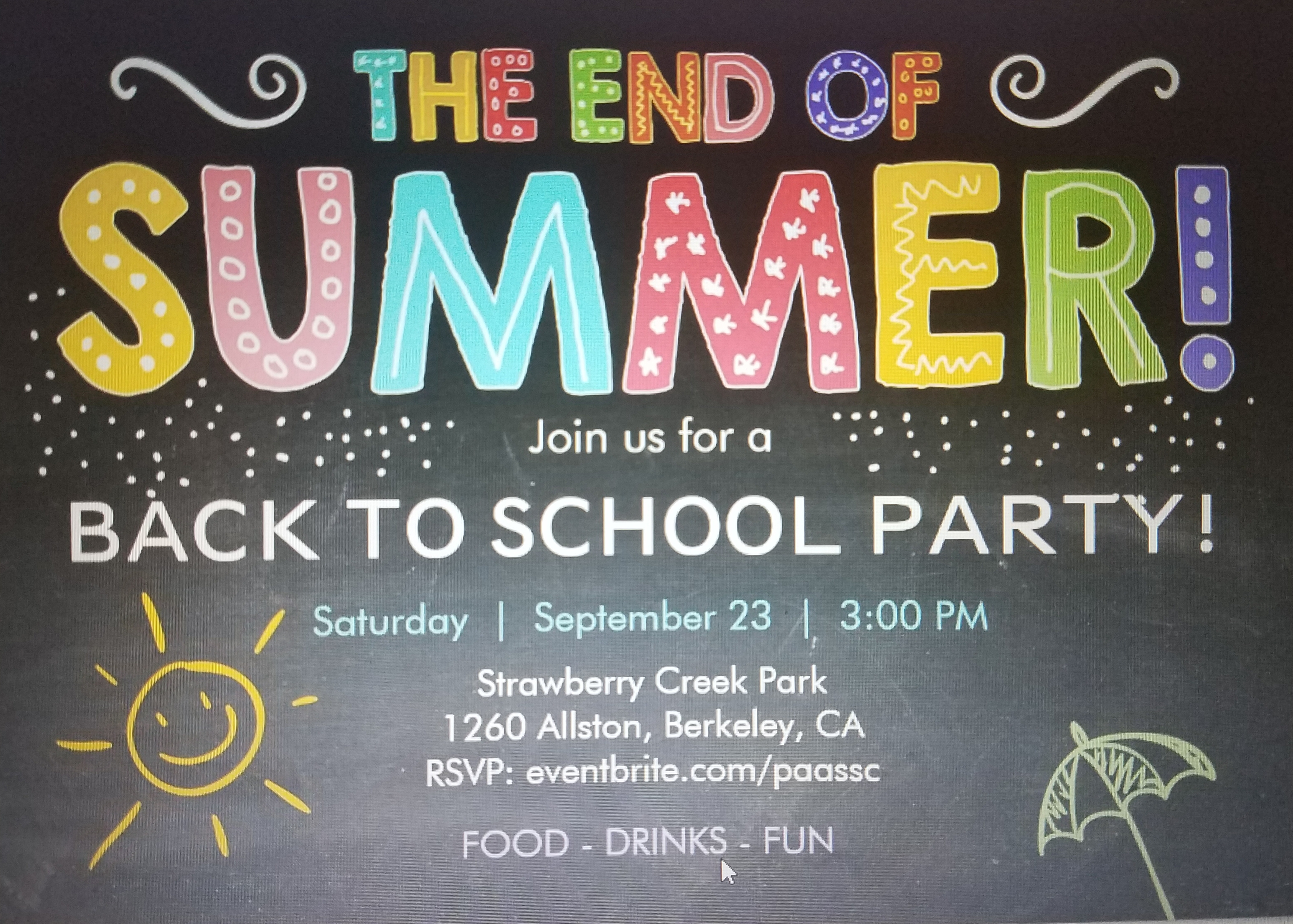 Back To School Party @ Strawberry Creek Park | Berkeley | California | United States